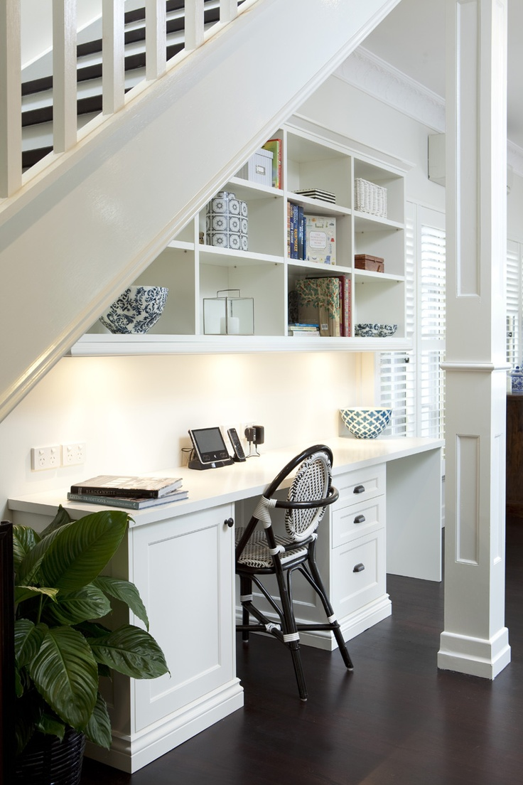 Home Office Under Stairway